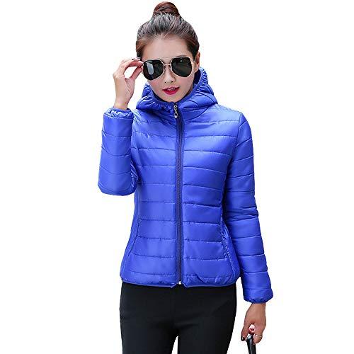 Blu Trapuntato Giacche Donna Inverno Cappuccio Piumino Giacca 6x64aZqf 2f8d14ee3a9