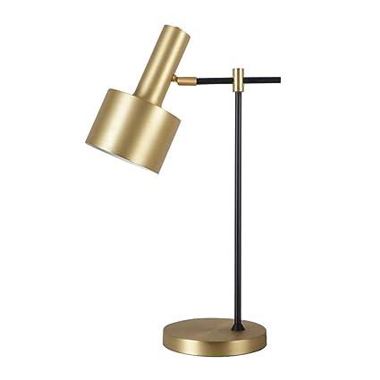 ZZW Lámpara de Mesa de Hierro Forjado nórdico, lámpara de ...