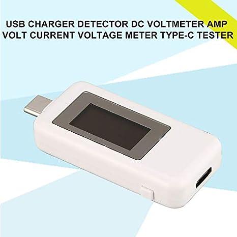 Pudincoco Detector de cargador USB DC voltímetro del voltaje de voltio amperios de corriente Medidor de