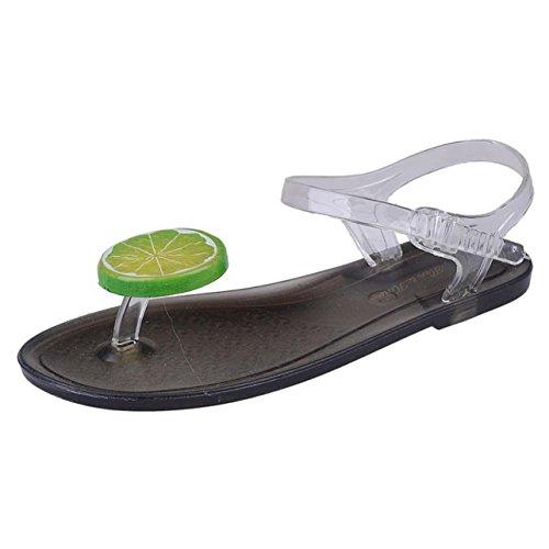 Sandalias de verano, Internet Sandalias de verano de las mujeres zapatos sandalias de baja sandalias sandalias (40, Plata) Negro C