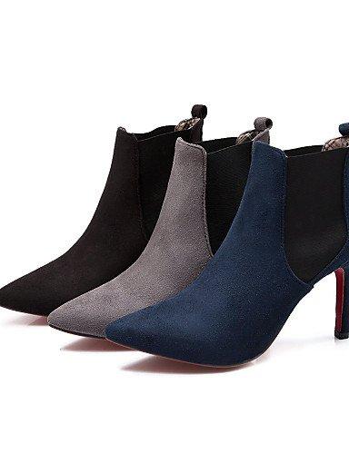 Puntiagudos Azul Black Vestido Sintético Moda Eu39 Negro Uk4 Xzz Cn37 Uk6 us6 Gris Botas Mujer Ante 7 Cn39 De us8 A Gray 5 5 5 Stiletto Eu37 Tacón Zapatos La Casual vBXqZ
