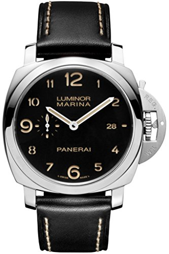 Panerai Men's Quartz Brass and Canvas Watch, Color:Black (Model: PAM00359)