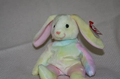 57a29a96655 Image Unavailable. Image not available for. Color  Hippie the Pastel Ty-Dyed  Bunny Rabbit - MWMT Ty Beanie Babies ...