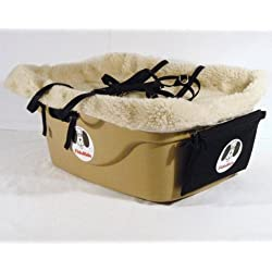 2 Seater Dog Car Seat Finish: Tan, Lining Color: Sherpa Beige, Harness Sizes: Small and Small