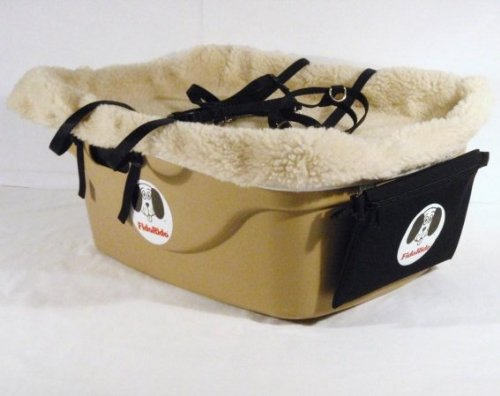 2 Seater Dog Car Seat Finish: Tan, Lining Color: Sherpa Beig