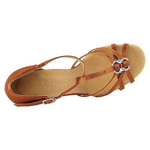 Dance I Satin 1120 Shoes Dress Salsa Ballroom Collection Shades Club TAN Wedding Tan Dark 50 of x0BwfH