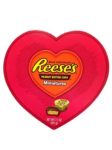 Hershey's Reese's Peanut Butter Cups Miniatures Valentine Heart 7.1 (Heart Miniature)