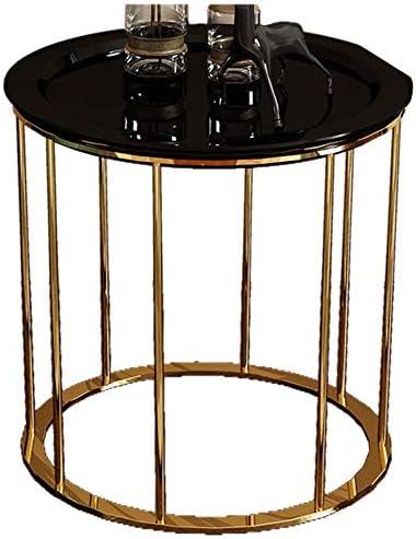 Boodschappen Doen Sofa kant/salontafel/salontafel/salontafel, creatief meubel voor thuis van hout, rond, zwart (50 × 50 × 55,5 cm)  T5b9ooz