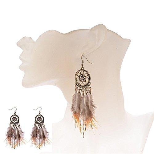 angel3292 Clearance Deals Fashion Women Dream Catcher Feather
