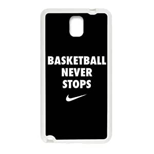 basketball never stops Phone Case for Samsung Galaxy Note3 Case