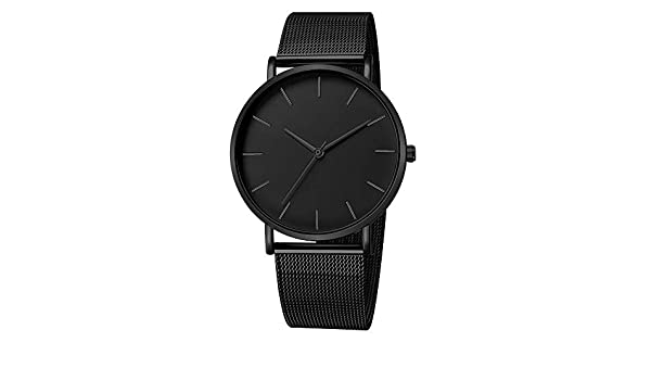 AOmahh Mens Mesh Belt Watch-Fashion Stainless Steel Men Military Sport Date Analog Quartz Wrist Watch at Amazon Mens Clothing store:
