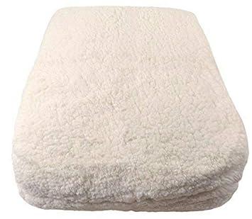 King de lujo de aspecto y tacto de lana de cordero de color crema SUPERSOFT elástica colchón Topper Enhancer: Amazon.es: Jardín