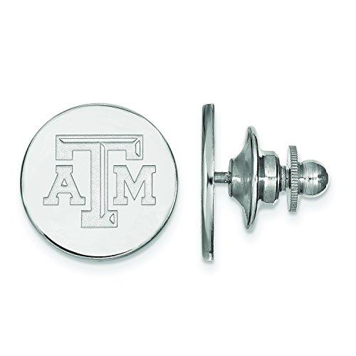LogoArt Texas A&M University Lapel Pin (14k White Gold)