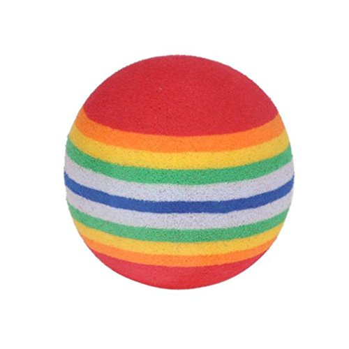 Sujing 20Pcs/Pack Indoor Outdoor Golf Training Aid Balls Colorful Rainbow Sponge Golf Ball Golf Training Soft Balls -