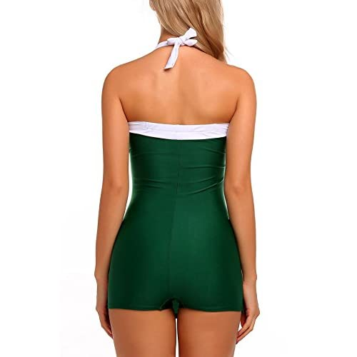 ab5b31da80e Nessere One Piece Swimsuit for Women, Vintage Retro Pin Up Halter ...