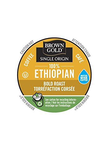 Brown gold 100 ethiopian coffee 48 single serve realcups brown gold 100 ethiopian coffee 48 single serve realcups negle Image collections