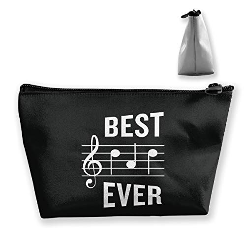 customgogo Women's Beautiful Musical Note Travel Makeup Bags, Portable Toiletry Bag Storage Bag Carry Case ()