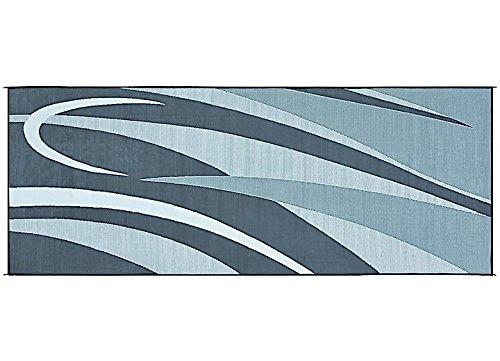 Ming's Mark GC1 Black/Silver 8' x 20' Graphic Mat - Rv Outdoor Rugs: Amazon.com