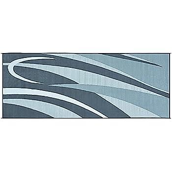 Amazon Reversible Mats Blue Grey 9 x18 RV