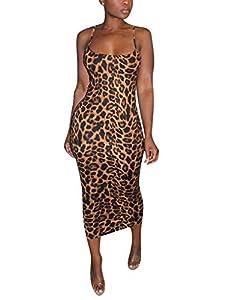 Rela Bota Women's Sexy Knitted Spaghetti Strap Sleevless Bodycon Midi Club Cocktail Dress