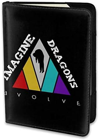 イマジン・ドラゴンズ Imagine Dragon パスポートケース パスポートカバー メンズ レディース パスポートバッグ ポーチ 携帯便利 シンプル 収納カバー PUレザー収納抜群 携帯便利 海外旅行 出張 小型 軽便