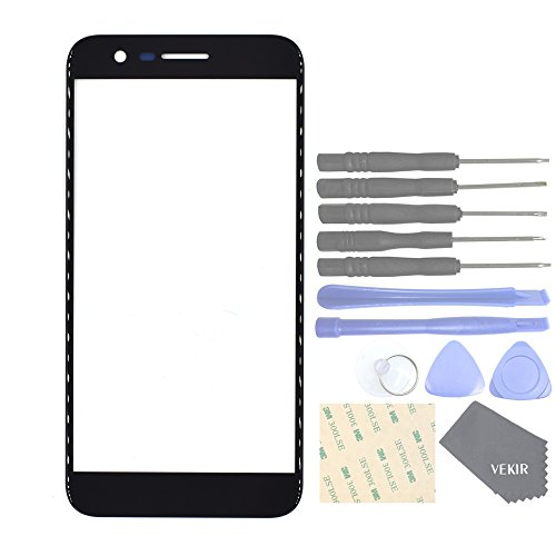 VEKIR Glass Lens Screen Replacement for LG K10 (2017)(Black)[This is 2017 Version!!][NO Touch,NO LCD]