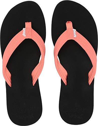 (Reef Women's Cushion Breeze Sandal, Coral (Coral/COR), 6)