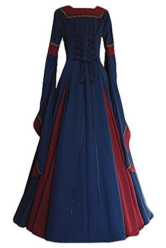 Amazon.com: Laku Women Medieval Costume Long Gown Dress ...