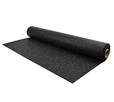IncStores 5mm Rubber Flooring Gym Mats 4ft x 15ft Equipment Mats, Exercise Mats, Treadmill, Elliptical, Light Duty Home Gym Flooring