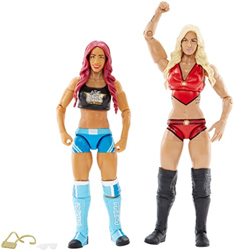 WWE Superstars Sasha Banks & Charlotte Action Figure (2 Pack) by WWE