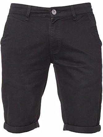 b08ecdb85f ENZO Mens Slim Fit Stretch Cotton Chino Summer Shorts Black Blue Red Grey,  BNWT: Amazon.co.uk: Clothing