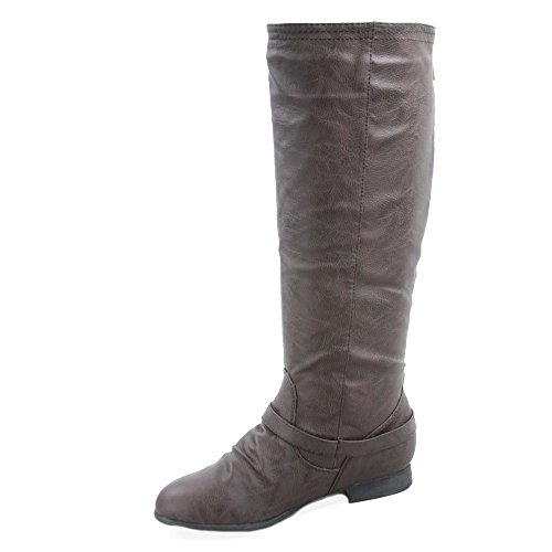 Military Coco 1 Moda Riding Women's Boot Brown Top CRqI5wC