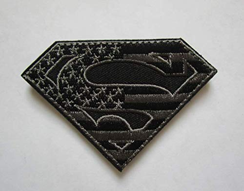 DC Comics Justice League Superman 'S' Logo Military Patch Fabric Embroidered Badges Patch Tactical Stickers for Clothes with Hook & Loop (color5) -