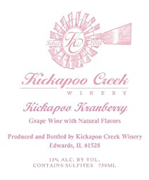 NV Kickapoo Kranberry Wine 750 mL