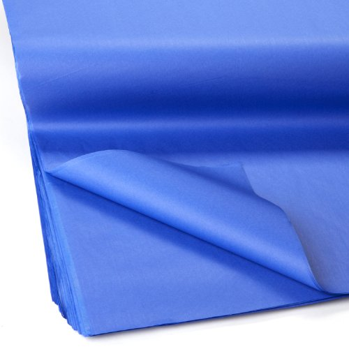 - Jillson Roberts Bulk 20 x 30 Inches Recycled Tissue Available in 28 Colors, Royal Blue, 480 Unfolded Sheets (BFT16)