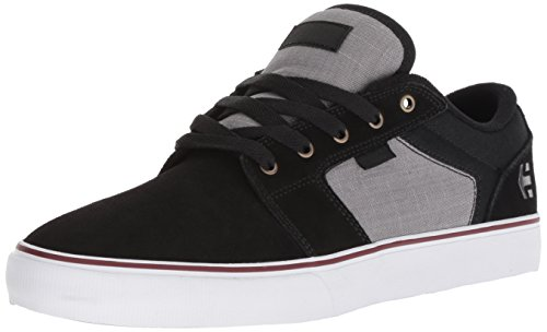 Etnies Men's Barge LS Skate Shoe, Black/Dark Grey/Silver, 11.5 Medium US