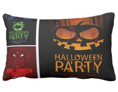 perfecone Home Improvement Pillowcase Halloween Party Sample Text Here Combination | Vintage Costumes of Monsters Hats Design for Sofa and car Pillow case 1 Pack 19.68x35.4 -