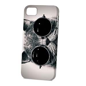Case Fun Apple iPhone 5C Case - Vogue Version - 3D Full Wrap - Cat in Sunglasses