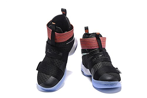 Men's Women's Air Zoom Basketball Shoe Soldier 10 Basketball Trainers Sneaker black rainbow US12 (Lebron Zoom Soldier 10 Black And Gold)