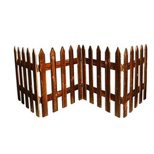- YYFANG Picket Fence Weatherproof Impregnation Corrosion Resistant Process Flower Bed Decoration Hinge Connection Separated Space, 4 Sizes (Color : Brown, Size : 200x50cm)