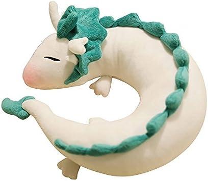 U-shape pillow Cute Little White Dragon U-Shaped Pillow Neck Pillow Japanese Animation Spirited Away