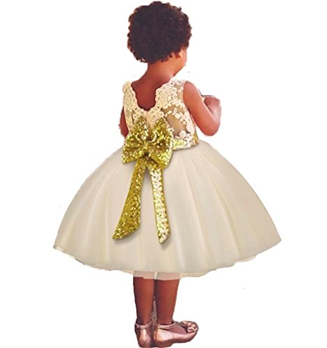 8bc03f82f7 Freefly Flower Girls Dress Wedding Christmas Party Birthday Sequins ...