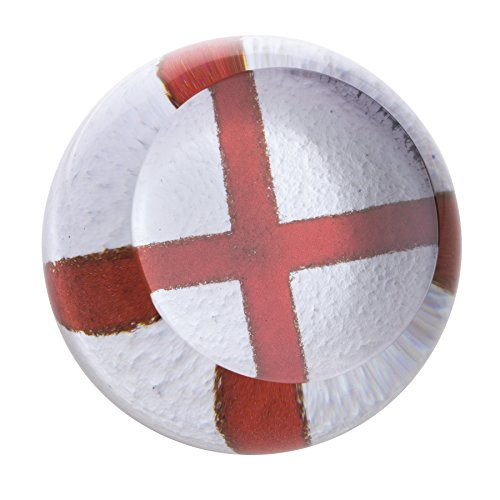 Caithness Glass U17040 Flags English Cross of St George Paperweight by Caithness Glass