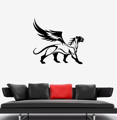 - Wall Decal Panther Leopard Jaguar Wings Animal Wild Cat Griffin Sticker (vs614)