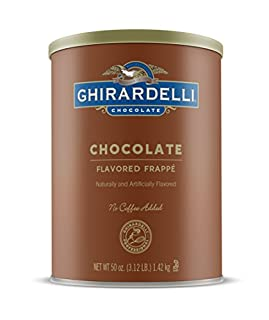 Ghirardelli Chocolate Frappe, Double Chocolate, 50 Ounce Can (B001G604ZI) | Amazon price tracker / tracking, Amazon price history charts, Amazon price watches, Amazon price drop alerts