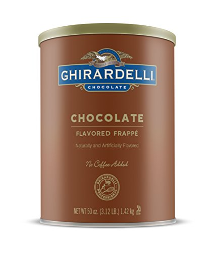 Ghirardelli Chocolate Frappe, Double Chocolate, 50-Ounce Can - Ghirardelli Double Chocolate
