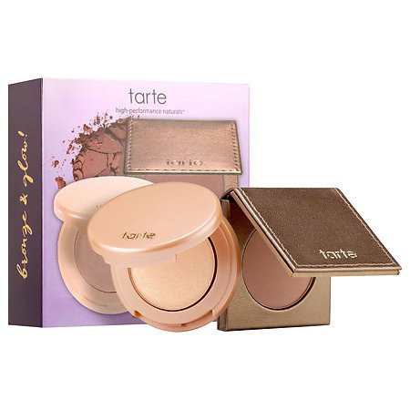 Tarte Glow Girls Bronze & Highlight Duo (Hotel Heiress Bronzer 0.77 Oz & Exposed Highlighter 0.77 Oz) by Tarte