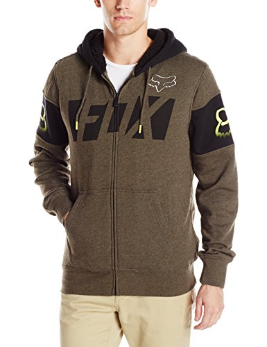 Fox Racing Men's Libra Sherpa Zip Fleece Sweatshirt, Mili...