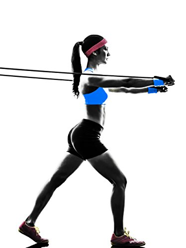 Large Product Image of Tribe 11pc Resistance Band Set - with Door Anchor, Handles, Ankle Straps - Stackable Up To 80lbs - For Resistance Training, Physical Therapy, Home Workouts