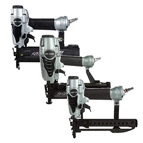 Hitachi KNT65M-50-38 3-Piece Straight Finish Nailer, Brad Nailer & Crown Stapler Combo Kit